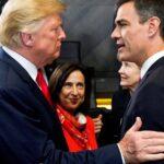El saludo entre Donald Trump y Pedro Sánchez