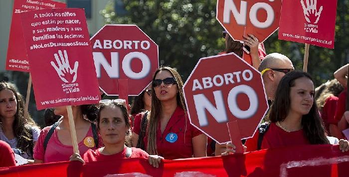 Protestas contra la despenalización del aborto