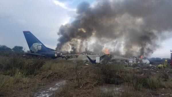 El avión de Aeromexico estrellado en Durango