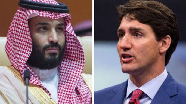 El príncipe heredero Mohammed bin Salman y el primer ministro de Canadá, Justin Trudeau