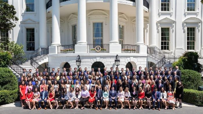 La foto de los becarios de verano de la Casa Blanca