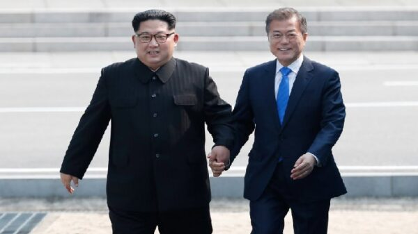 Kim Jong Un y Moon Jae-in