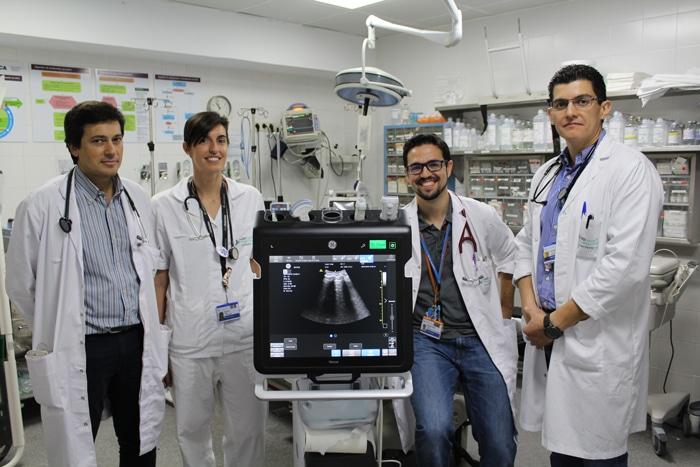 De izda. a dcha., los doctores García Cañete, Pavón, Rodríguez Lema y Vázquez