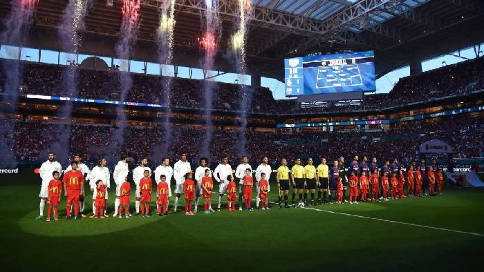 Real Madrid y Barcelona en un partido en Miami