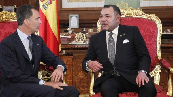 El Rey de Marruecos, Mohamed VI, con el Rey Felipe