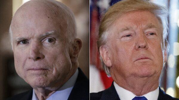 John McCain y Donald Trump