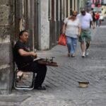 Músico callejero en Mérida
