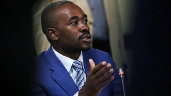 Nelson Chamisa, presidente del Movimiento por el Cambio Democrático, de Zimbabue