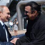 Vladimir Putin con el actor Steven Seagal