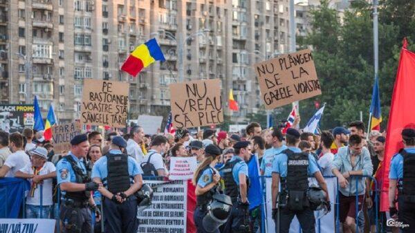 Protestas en Bucarest