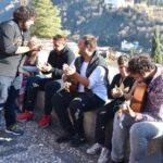 Músicos en el Sacromonte de Granada