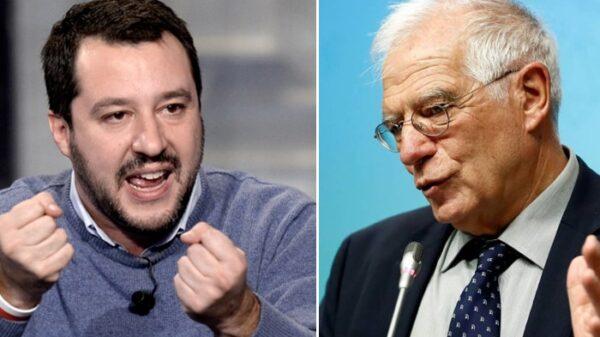 Matteo Salvini y Josep Borrell