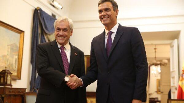 Pedro Sánchez con el presidente de Chile, Sebastián Piñera
