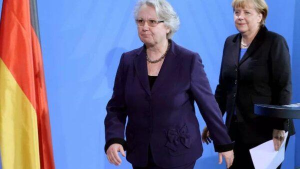 Annette Schavan y Angela Merkel