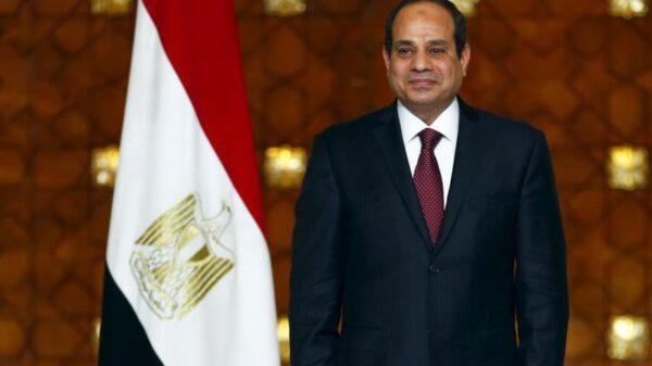 El presidente egipcio, Al Sisi, en una ceremonia en El Cairo.