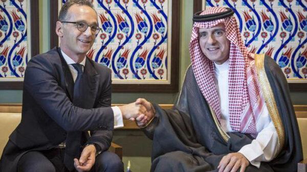 El ministro de Exteriores alemán, Heiko Maas, y su homólogo saudí, Adel al Jubeir