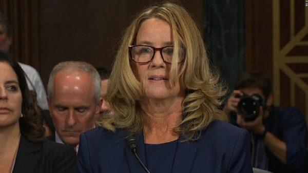 Christine Blasey Ford declarando contra Brett Kavanaugh