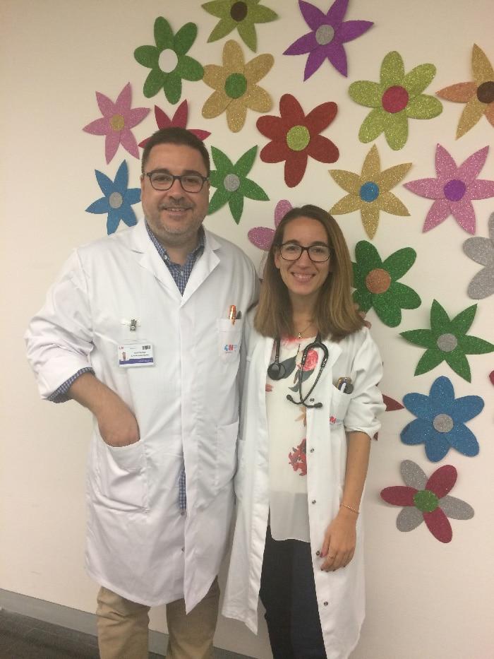 Los doctores Rafael Martos y María Yuste