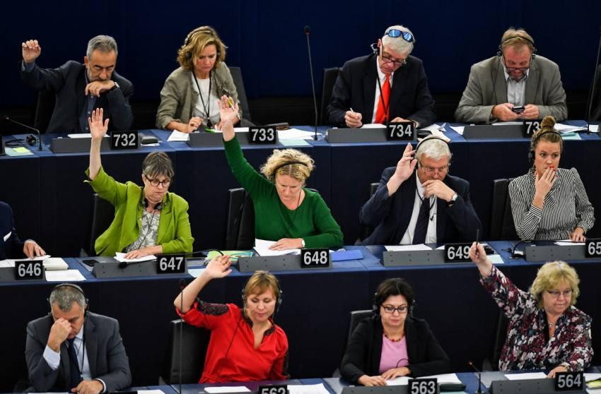 Votación sobre Hungría en el Parlamento Europeo en Estrasburgo