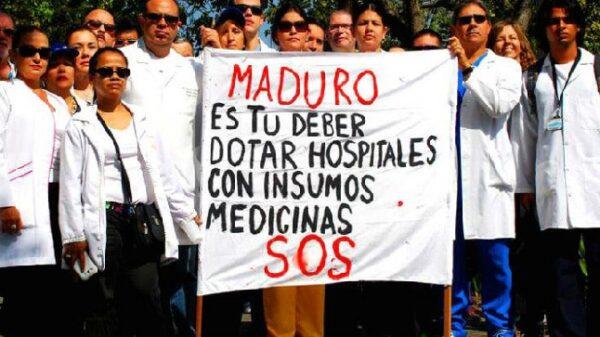 Protestas de los médicos venezolanos