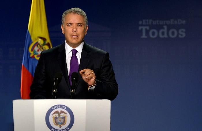 El presidente colombiano, Iván Duque