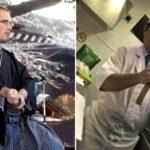 El maestro de artes marciales Marcos Sala y el chef Masaharu Tada