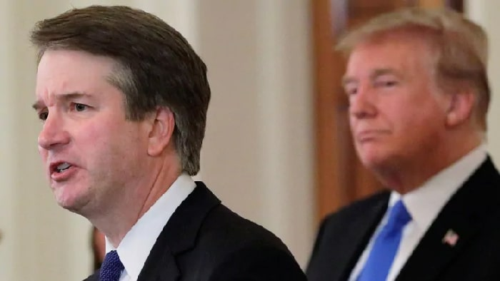 Brett Kavanaugh y Donald Trump