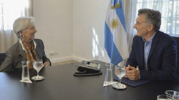 Christine Lagarde con Mauricio Macri