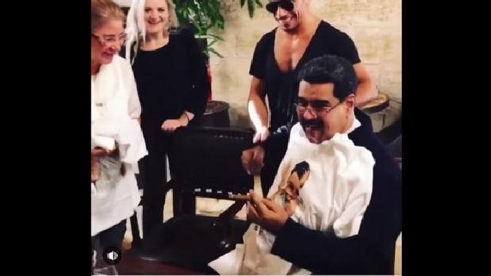Maduro de banquete en Turquía
