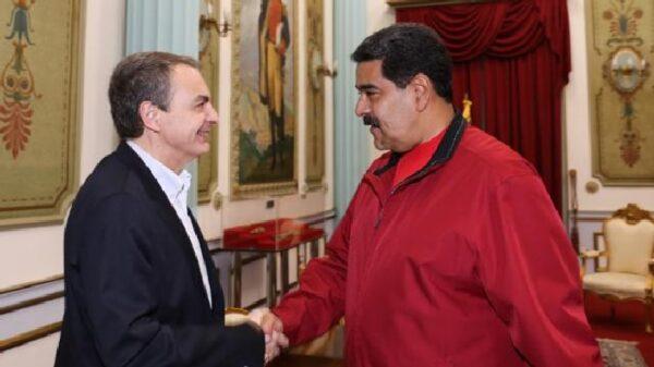 José Luis Rodríguez Zapatero con Nicolás Maduro
