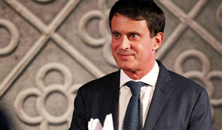 Manuel Valls durante la presentación de su candidatura a la Alcaldía de Barcelona