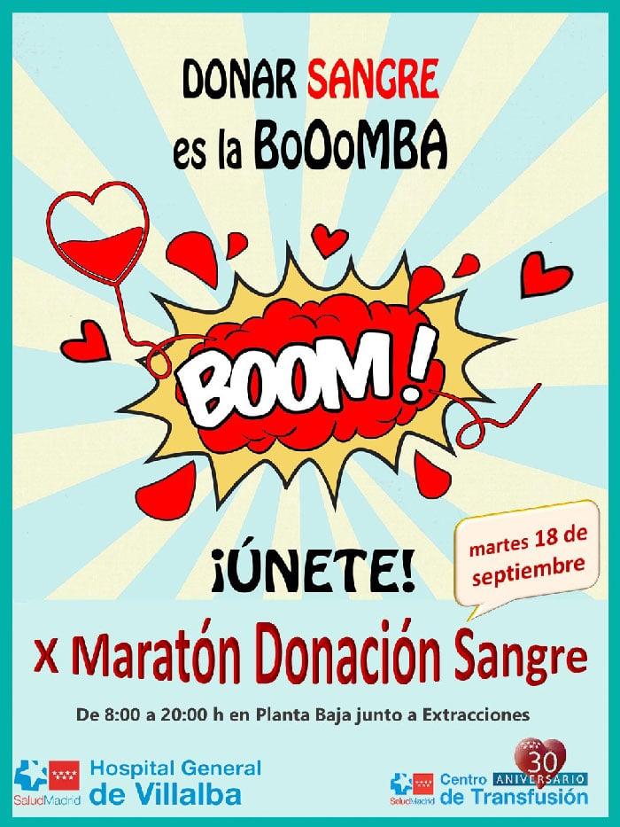 Cartel del Maratón de Donación de Sangre