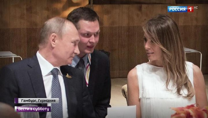 Melania Trump con Vladimir Putin