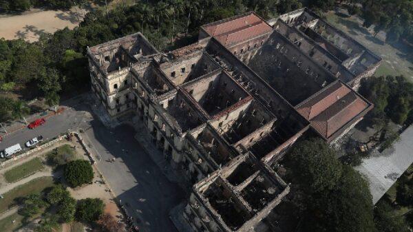 El Museo Nacional de Brasil tras su incendio