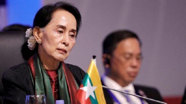 La jefa del Gobierno birmano, Aung San Suu Kyi