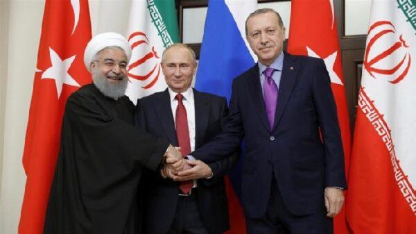 Los presidentes de Irán, Rusia y Turquía