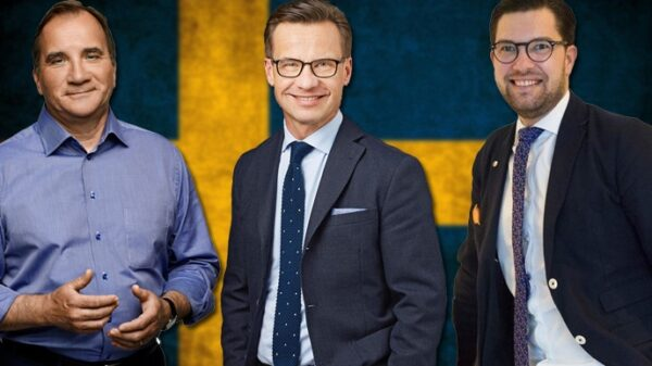 Stefan Löfven, Ulf Kristersson y Jimmie Akesson