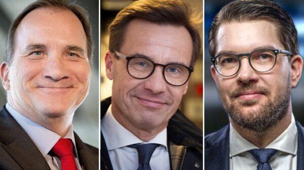 Stefan Lofven, Ulf Kristersson y Jimmie Akesson