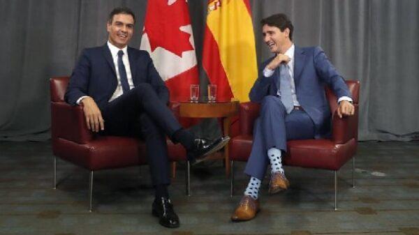 Justin Trudeau con Pedro Sánchez