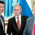 Xi Jinping, Vladimir Putin y Donald Trump