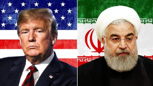 Donald Trump y Hassan Rouhani