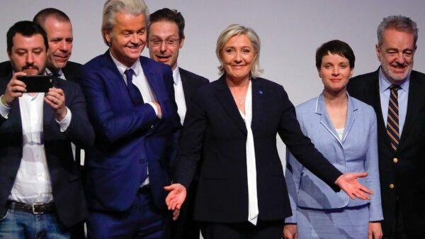 Matteo Salvini, Geert Wilders y Marine Le Pen, entre otros, en una convención de partidos de ultraderecha
