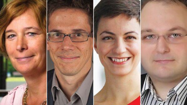 Petra De Sutter, Bas Eickhout, Ska Keller y Atanas Schmidt