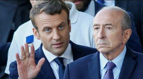 Enmanuel Macron y Gérard Collomb