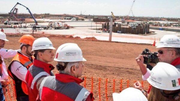 Las obras del Nuevo Aeropuerto Internacional de México