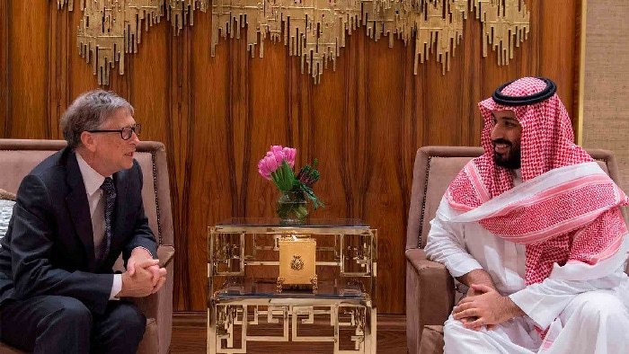 El príncipe Mohamed bin Salman con Bill Gates