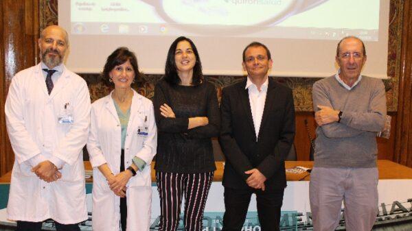 De izquierda a derecha, los doctores Córdoba, Llamas, Rodríguez Pinilla, Rojo y Piris, organizadores del simposio