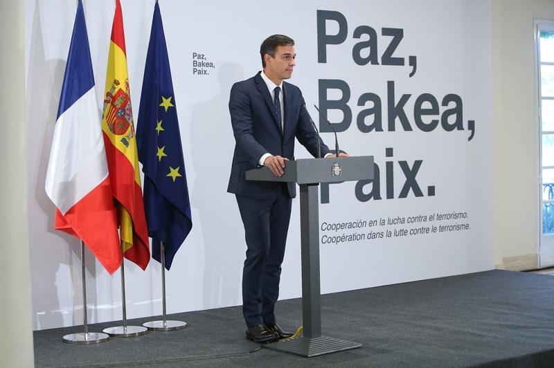 Pedro Sánchez durante su intervención