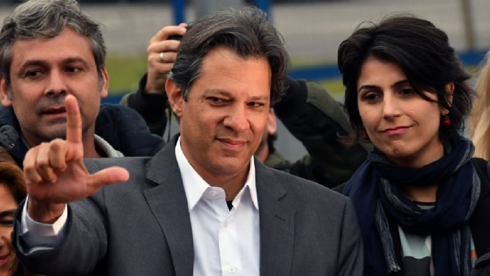 El candidato presidencial de Brasil Fernando Haddad