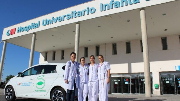 La doctora González Juárez (izquierda) junto a las tres enfermeras que completan la Unidad de Hospitalización a Domicilio